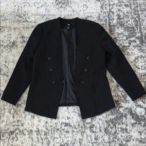 H&M black blazer jacket size 10